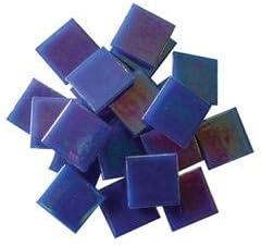 Light Blue Jennifers Mosaics 8-Ounce Light Blue 3//4-Inch Venetian Style Glass Mosaic Tile