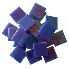 - Jennifer's Mosaics 3/4-Inch Iridized Venetian Style Glass Mosaic Tile, Dark Blue, 8-Ounce (T305 8 OZ)