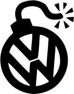 Amazon.com: VW VOLKSWAGEN BOMB SIGN VINYL STICKER DECAL