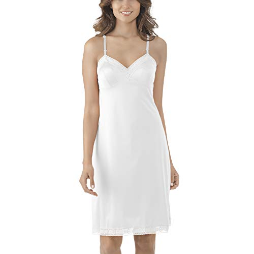 - Vanity Fair Women's Plus Size Rosette Lace Full Slip 10103, Star White, 34 Bust (18