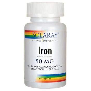 Iron 50mg Solaray 60 Caps