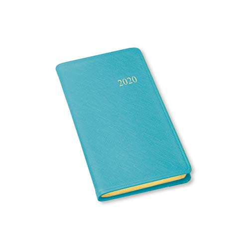 2020 Pocket Weekly Planner by Gallery Leather - Key West Turquoise (Blue) - Open Format 6