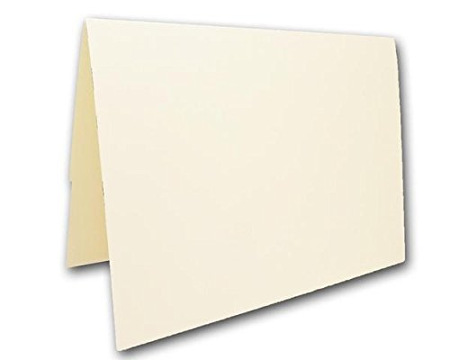 """Blank Colorful Place Cards Tent Cards   Size 3.5"""" x 5"""" Flat 2.5"""" x 3.5"""" Folded (50, Natural)"""