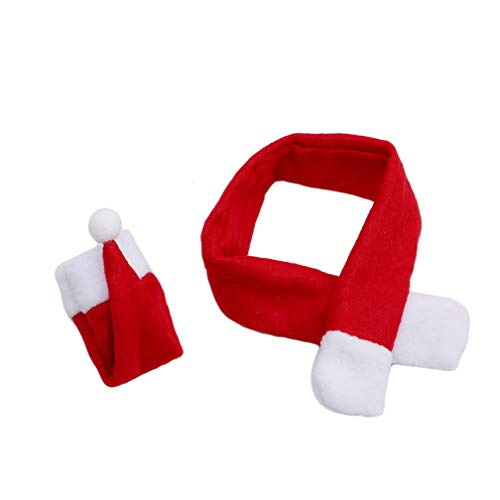 LJSLYJ Christmas Gift Decoration Glass Hat Scarf Wine Bottle Cover Decoration Event Party Supplies Xmas Gift ()