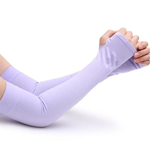 Arm Coolers Sports Skin Sleeves 4pairs  Purple Cooling Arm Sleeves Cover
