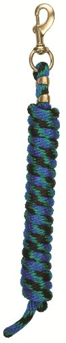 Poly Lead Rope Snap (35-2100) Blk/Grn/Blu - And Blu Blk