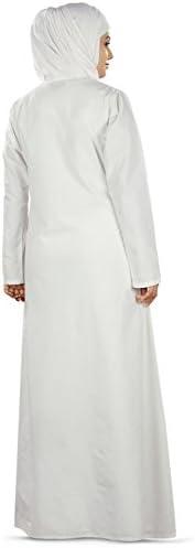 MyBatua Blanc brodé Musulmane Simple prière Abaya Burqa AY-395