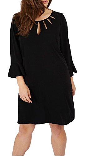 Damen Kleid Abendkleid Jumper Schick Elegant Loose Fit Locker Fallend auch Große Größen, Cocktail Abendmode Frauen Tunika Tunikakleid