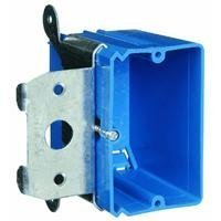 Carlon B121ADJ Outlet Box, New Work, 1 Gang, 3-3/4-Inch Length by 3-7/8-Inch Width by 3-3/8-Inch Depth, Blue by Thomas & Betts