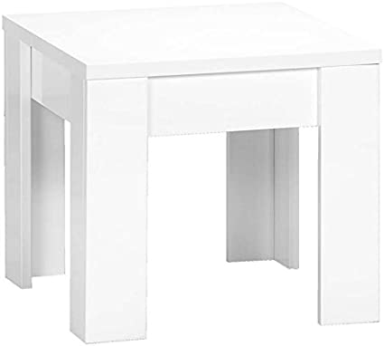 Amalfi Tavolino Legno Bianco 50 X 50 X 45 Cm Amazon It Casa E Cucina