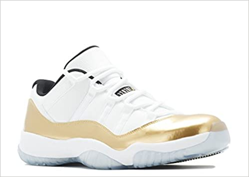 3564e87b973 Jordan AIR 11 Retro Low 'White/Metallic Gold' Closing Ceremony Men's Shoe  Size (7) Paperback