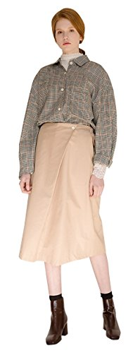 MONTS Women's Brown Check Loose Fit Tuck Shirt Jacket One Size Brown