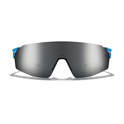 - ROKA SL-1 APEX Advanced Sports Performance Ultra Light Weight Sunglasses with Patented Geko Pads - Cyan Frame - Dark Arctic Mirror Lens