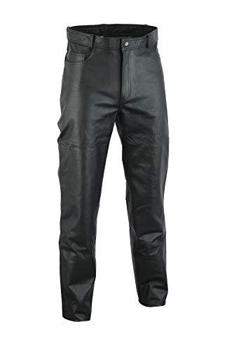 Ruja Mens Genuine Leather Black Pants (32 W)