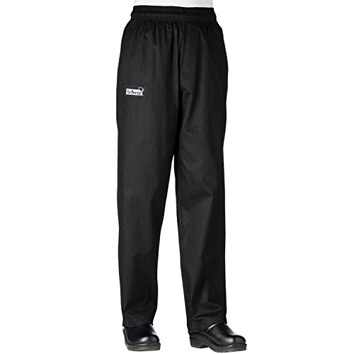 Chefwear Womens Cotton Low Rise Chef Pants Black M (Pants Chef Chefwear)