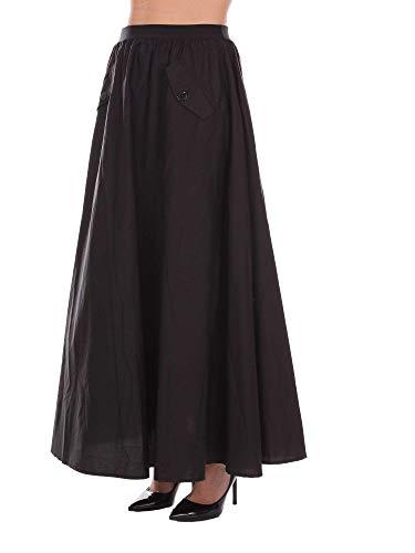 Femme Ms8gdd00006 Noir Jupe Twin set Coton E5qcfp