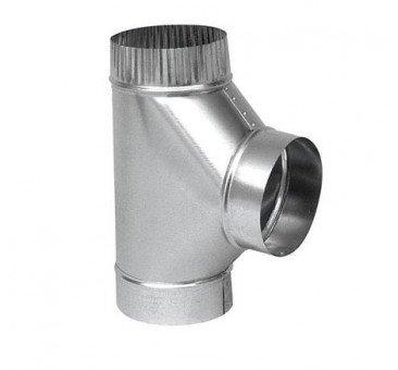 26 Gauge Galvanized Tee - Galvanized Stove Pipe Tee 8