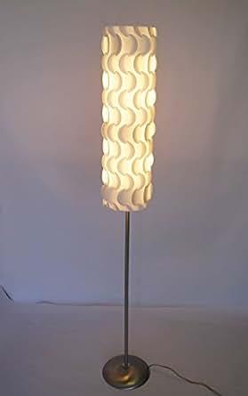 Floor Lamp Jk102l Contemporary Modern Lighting New Decor White Plastic Petal Like Shade Metal