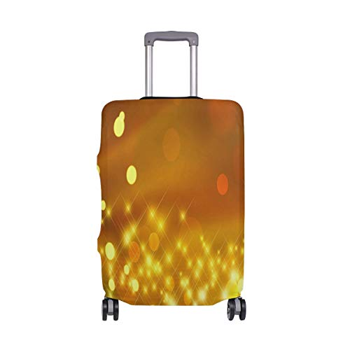 Luggage Cover Yellow Glitter Travel Case Suitcase Bag Protector 3D Print Design
