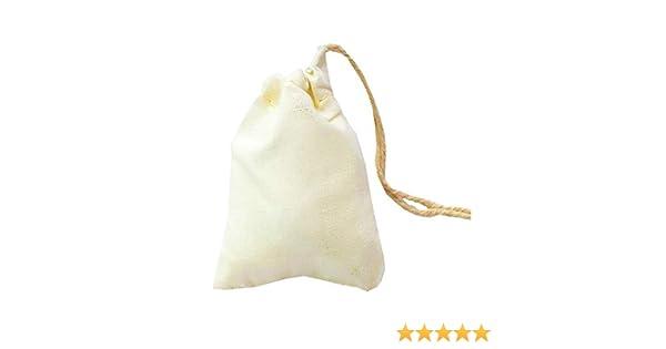 100pcs x (5x7) pulgadas pequeñas bolsas de algodón bolsas de ...