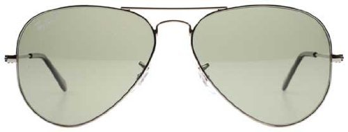cf6cb3ca18 Ray-Ban Aviator Large Metal Sunglasses Rb3025 004 58 Gunmetal Crystal Green  Polarized