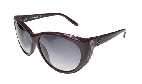 Just Cavalli Jc405s Womens/Ladies Cat Eye Full-rim Gradient Lenses Sunglasses/Eyewear (59-17-130, Eggplant / Pink Leopard Print)