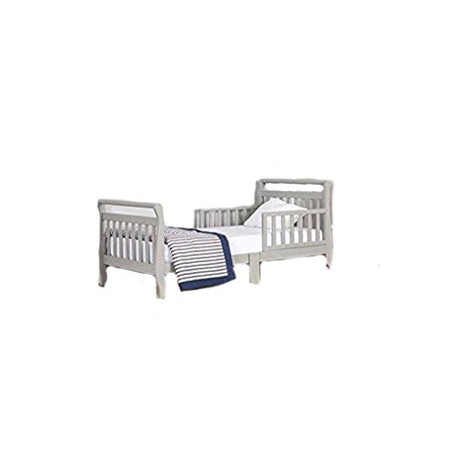 Dream On Me Sleigh Toddler Bed, Cool Gray, 24 Pound