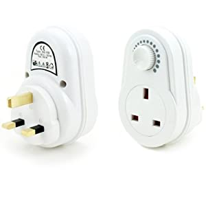 mains white dimmer switch dial uk plug wall socket electronics. Black Bedroom Furniture Sets. Home Design Ideas