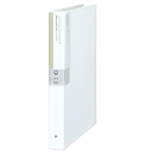 Deja Vu Plus Colors Series 4 ring binder A4-S FB-135DP Pure white 89-937 (japan import)