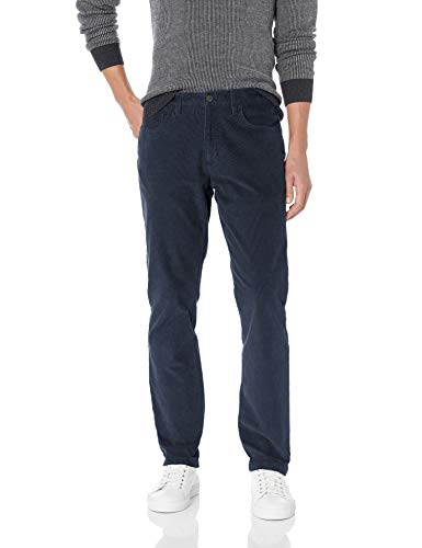 Stretch Corduroy Jean - Goodthreads Men's Straight-Fit 5 Pocket Corduroy Pant, Navy, 32W x 30L