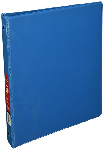 "BAZIC 1"" Cyan 3-Ring View Binder w/ 2-Pockets"