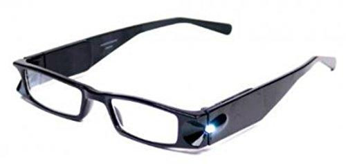 Lightspecs Black- 1.50 - Reading Glasses Up Light