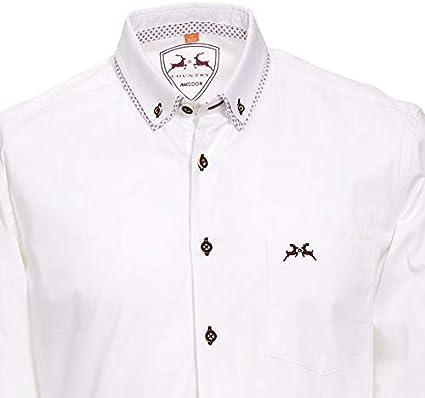 MADDOX Trachtenhemd-32 wei/ß smaragd oder Rubin