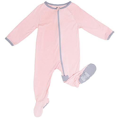 Zip Sleeper Baby Onesie for Boy or Girl, Premium Bamboo No Slip Footie ()