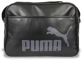 5e49ce6cc6 Puma Campus Reporter Bag - Black Grey Messenger Shoulder Flight Bag ...