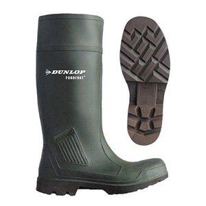 Knee Boots, Men, 6, Steel Toe, Grn, 1PR
