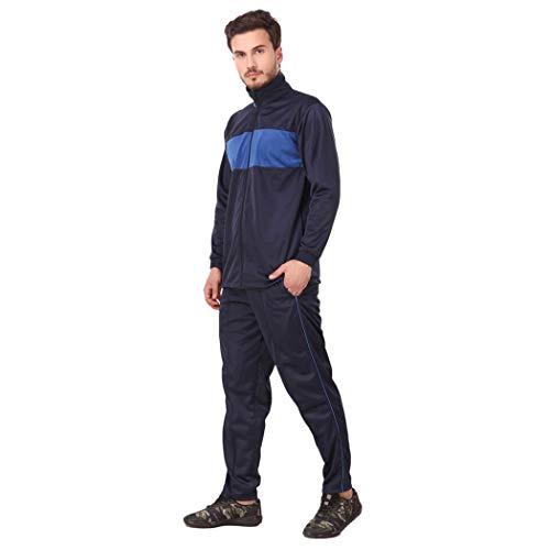 31oJg1L4xbL. SS500  - Fashion7 Men's Polyester Tracksuit - Tracksuit for Men Sports (Blue)