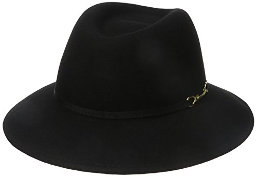 san-diego-hat-company-womens-vintage-shape-fedora-with-gold-buckle-trim-black-one-size