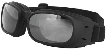Bobster Piston Goggles - One size fits most/Black/Smoke/Silver Mirror
