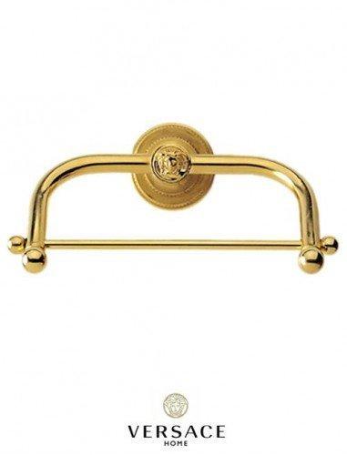 24k gold toilet paper. Versace Classic Gold Toilet Paper Holder  Amazon co uk Kitchen Home