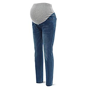 Women's Maternity High Waist Jeans Pregnancy Pants Stretch Belly