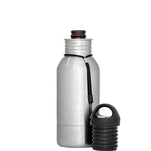 BottleKeeper - The Stubby 2.0 - The Original Stainless Steel Bottle Holder and Insulator to Keep Your Beer Colder - Holder Stubby