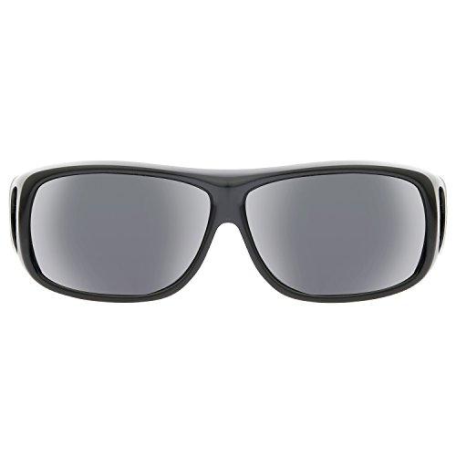 soleil Noir Nero Homme Grigio Lunettes 243827 Polaroid de zwatxq