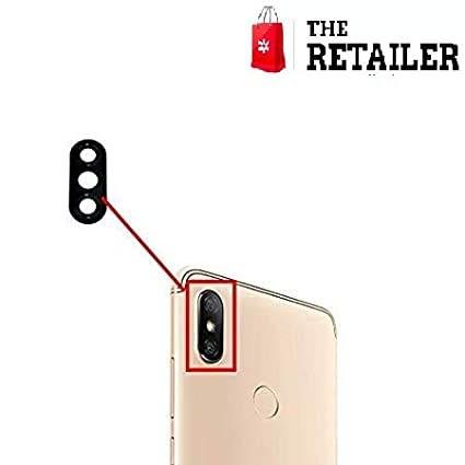 new products 9c6ea 1de85 The Retailer Back Camera Lens Anti-Scratch True Glass with Adhesive Sticker  Compatible for Xiaomi Mi Y2