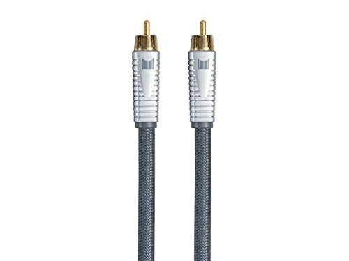 Conductor Quintets (Monolith RCA Cable - Silver - 9 feet Chord, 24K Gold Plated Connectors, AL foil, OFC Copper Braided Shield)