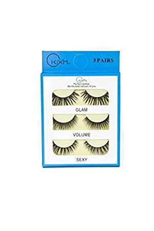 4cb03f49266 False Eyelashes, Handmade Luxury 3D Lashes, 3 Pairs Different Style Faux  Mink Wispy Natural Eyelashes Multipack.: Amazon.co.uk: Beauty