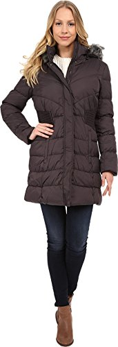 Via Spiga Women's Diamond Quilted Down Coat with Faux Fur...