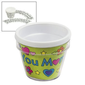 Color Your Own Mom Artist Flowerpots - Crafts for Kids & Color Your Own Mothers Day Flower Pots