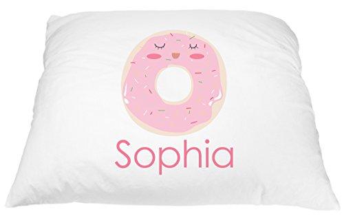 Cute-Donut-Pillow-Case-Food-Pillowcase-Donut-Pillow-for-Kids-Custom-Pillowcase-Personalized-Pillowcase-for-Kids-Donut-Pillow-with-Sprinkles-Donut-Decor-Donut-Gift-Microfiber-Pillowcase-20×30