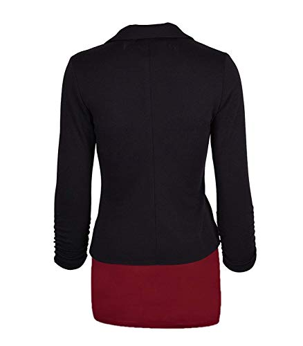 Schwarz Giacche Autunno Donna Tailleur Manica Giaccone Classiche Monocromo Cappotto Button Marca Casuali Slim Giacca Mode Bavero Blazer Di Con Lunga Fit Fashion Primaverile Business Da xxwqgfS